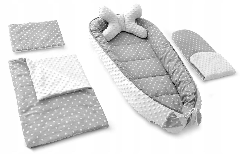 Sada pre bábätko - hviezdy - sivá / biela