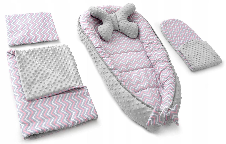 Sada pre bábätko - ružová / sivá