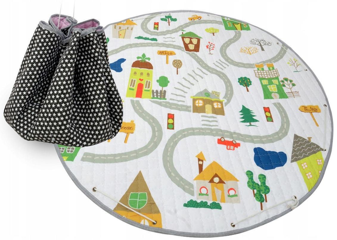 Detský koberček na hranie - dedinka