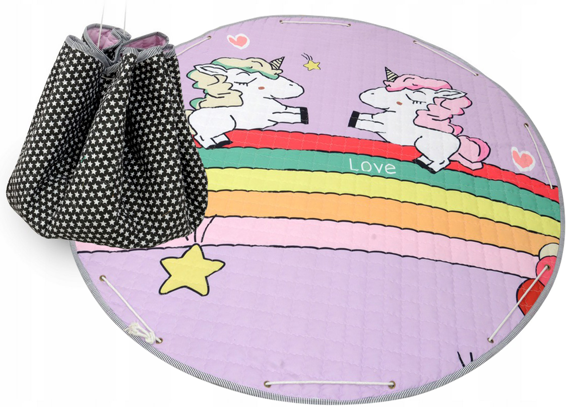 Detský koberček na hranie - jednorožec