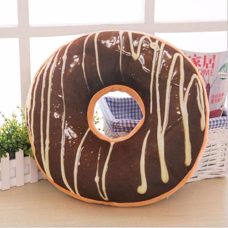 Detská plyšová hračka / poduška - donut CHOCO