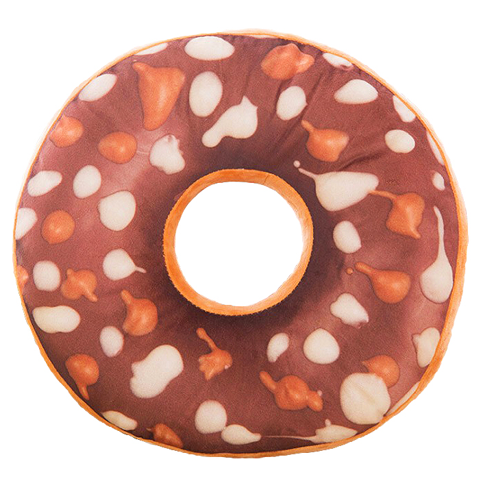 Detská plyšová hračka / poduška - donut CHOCO CHIPS