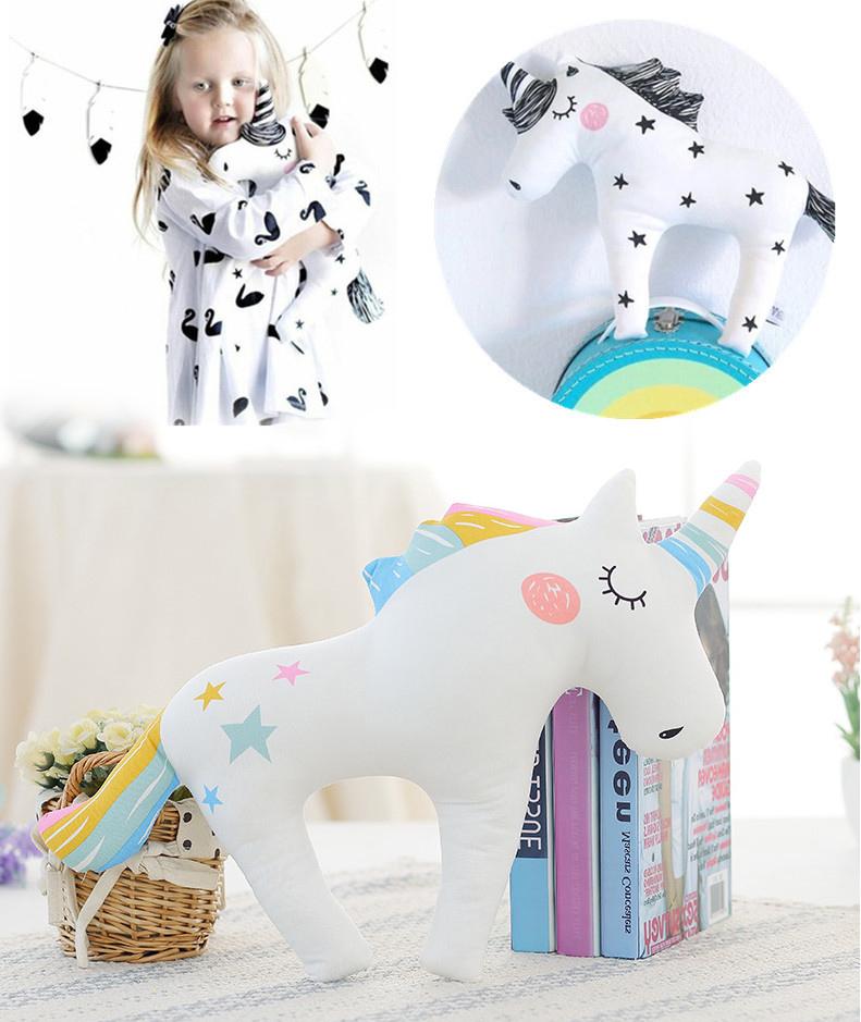 Detská plyšová hračka - farebný jednorožec 42 cm
