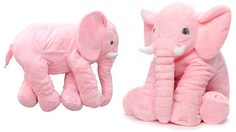 Detská plyšová hračka - ružový sloník 63 cm