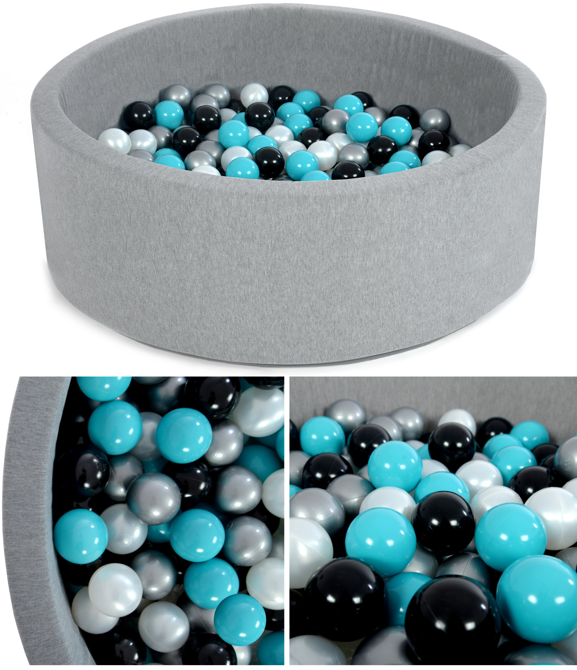 Suchý bazén - modro čierna